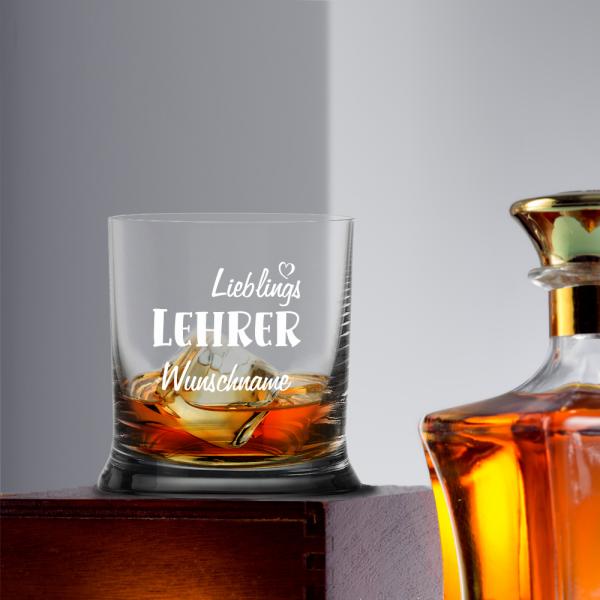 Whiskyglas Lieblings-Lehrer mit Namen
