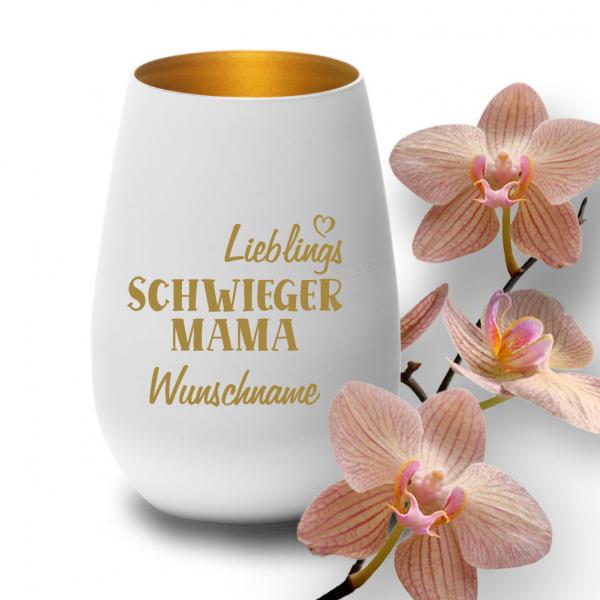 Windlicht Lieblings-Schwieger-Mama mit Wunschnamen