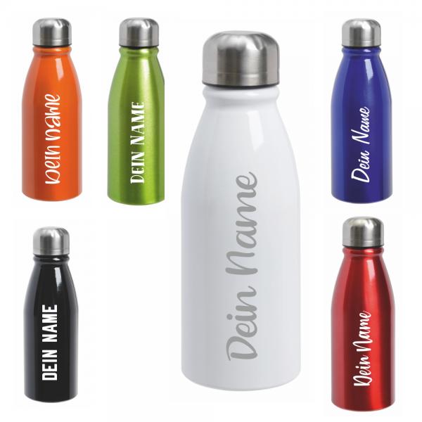 Trinkflasche 500 ml in verschiedenen Farben - Dein Wunschname