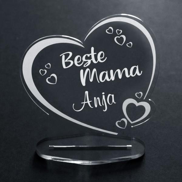 Acryl-Herz Beste Mama + Name
