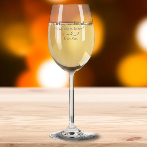 Weißweinglas von Leonardo Glück ist eine Patentante