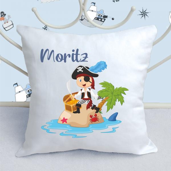 Kinder-Kissen Pirat mit Wunschnamen