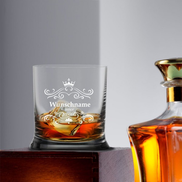Whiskyglas mit Deinem Wunschnamen und Geburtsjahr