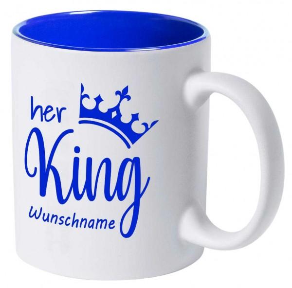 """Tasse """"Her King"""" mit deiner Wunschgravur"""