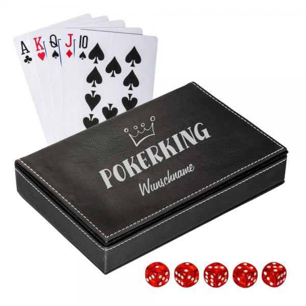 Pokerset für den Pokerking mit Wunschnamen - jetzt online kaufen bei trendgravur.de