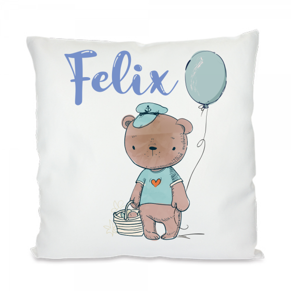 Kissen mit Namen Teddy