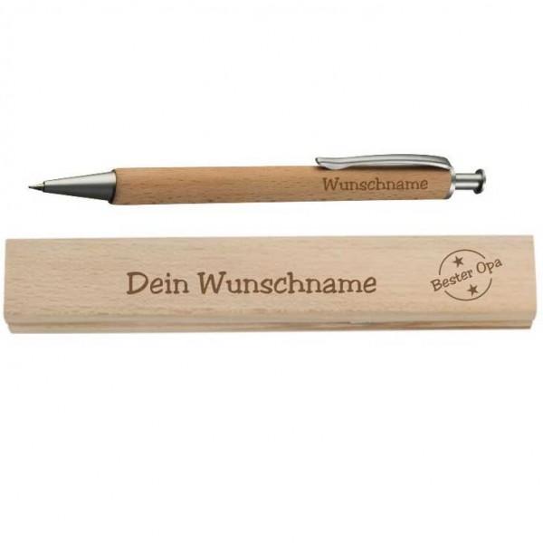 Personalisierter Holz-Kugelschreiber für den Besten Opa