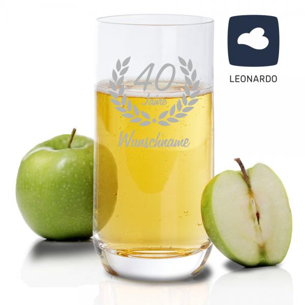 Personalisiertes Trinkglas zum 40. Geburtstag