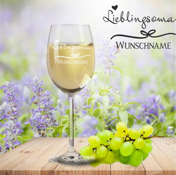 Weißweinglas von Leonardo Lieblingsoma mit Namensgravur