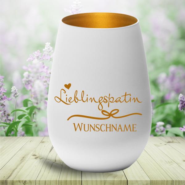 Windlicht Lieblingspatin mit Deinem persönlichen Wunschnamen