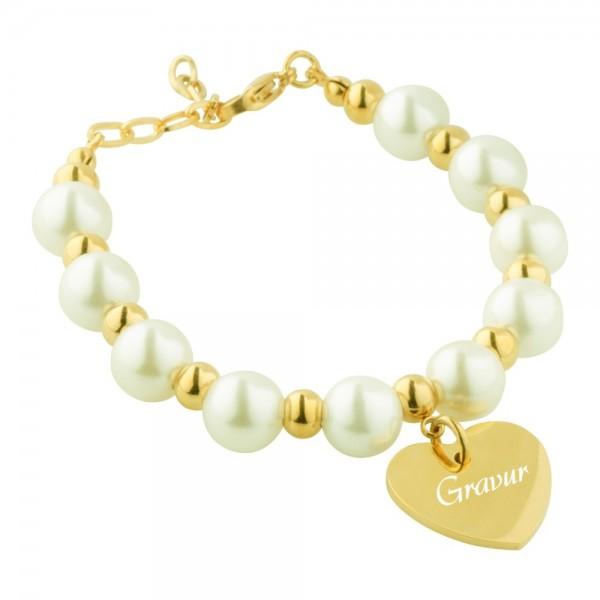 Perlen-Armband mit Gravur AG-B042