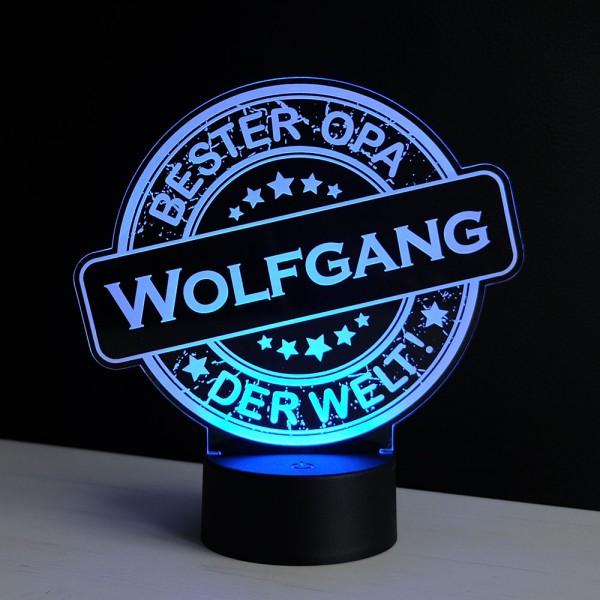 """LED-Dekolicht """"Bester Opa"""" mit Wunschnamen"""