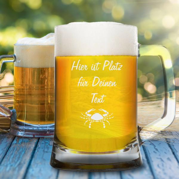Bierkrug 0,5l mit Deinem Wunschtext