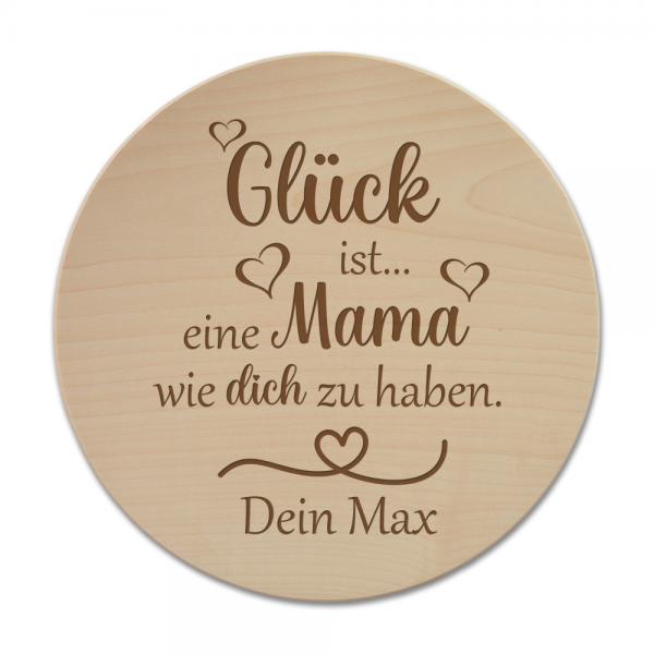 Pizzateller Glück ist eine Mama... mit Wunschnamen