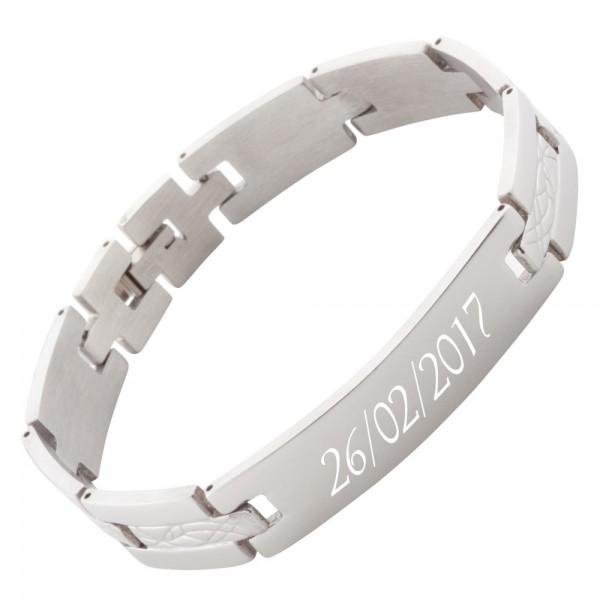 Armband mit Gravur Edelstahl AG-024
