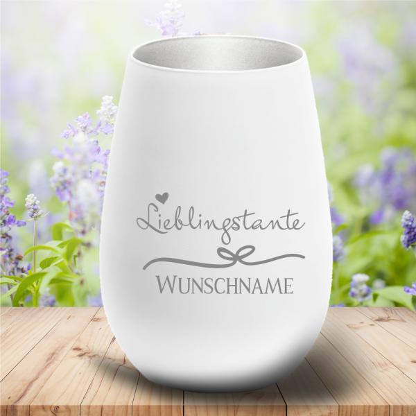 personalisiertes Windlicht Lieblingstante mit Deinem Wunschnamen