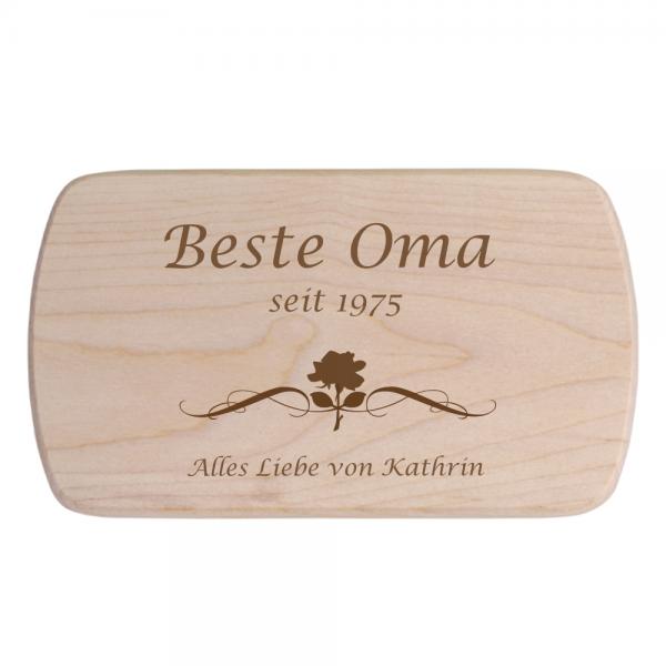 Brotbrett für die beste Oma - personalisiertes Frühstücksbrett