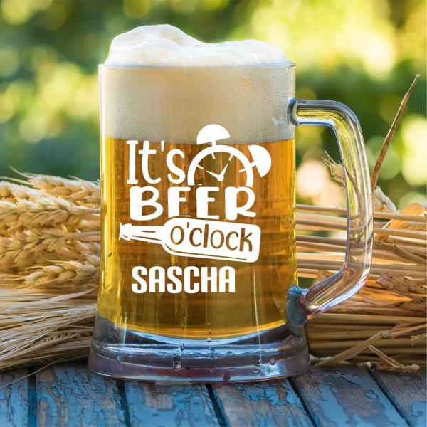Bierkrug It´s beer o´clock