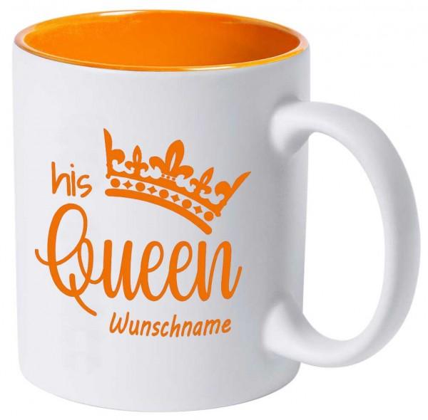 """Tasse """"His Queen"""" mit deiner Wunschgravur"""