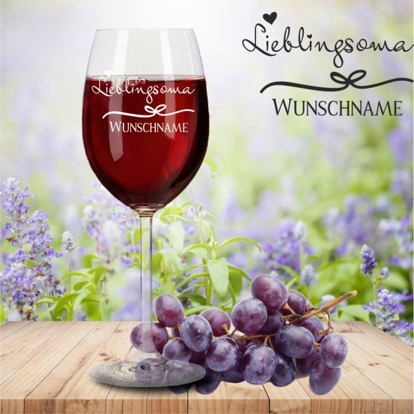 Rotweinglas von Leonardo Lieblingsoma mit Namensgravur