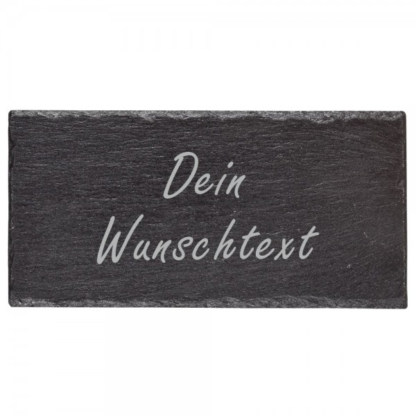 Deko-Schiefertafel mit Gravur - Wunschtext