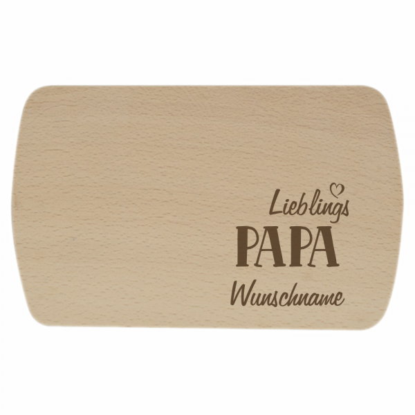 Brotbrettchen Lieblings-Papa mit Wunschname