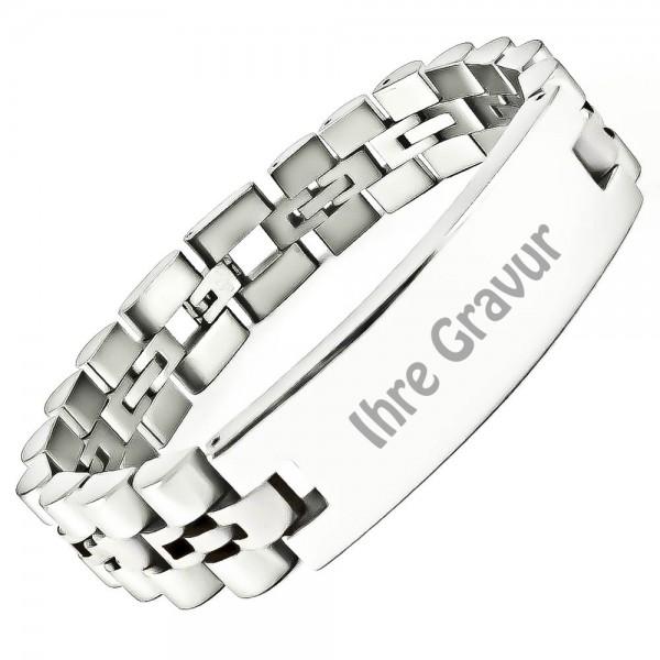 Trendgravur Armband Edelstahl mit Gravur AG-046