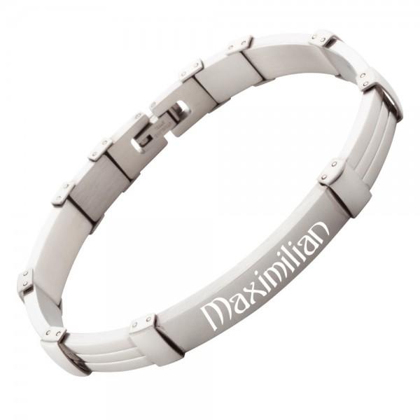 Armband mit Gravur Edelstahl AG-007