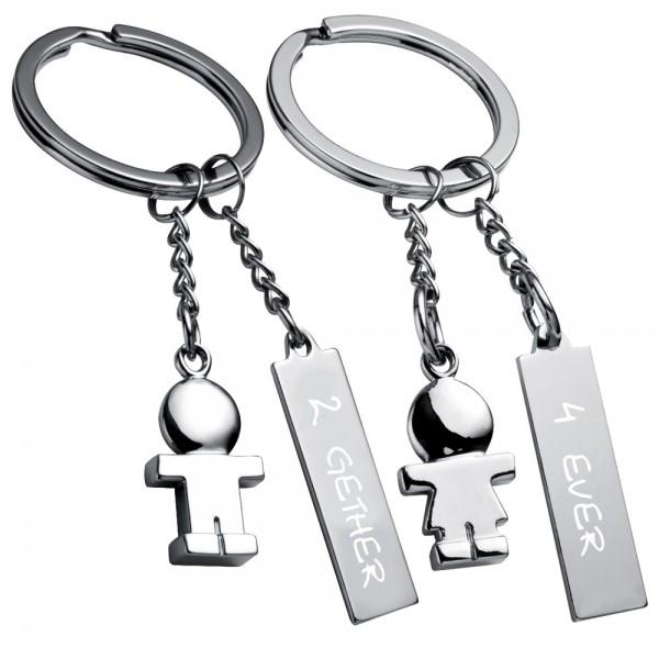 Trendgravur Schlüsselanhänger Partner-Set