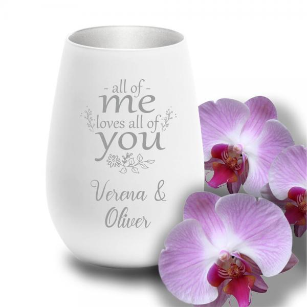 personalisiertes Windlicht zur Hochzeit - All of me loves all of you