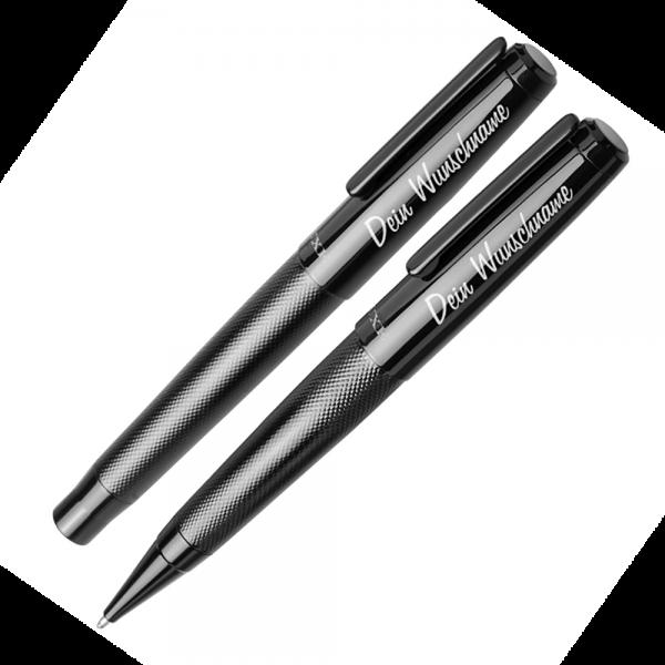 Schreibset Gloss mit Gravur