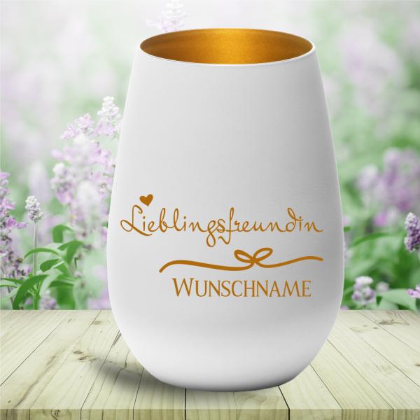 Windlicht Lieblingsfreundin mit Deinem persönlichen Wunschnamen