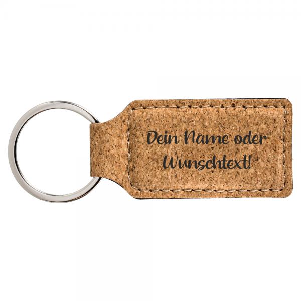 Schlüsselanhänger Kork mit Deinem Wunschtext