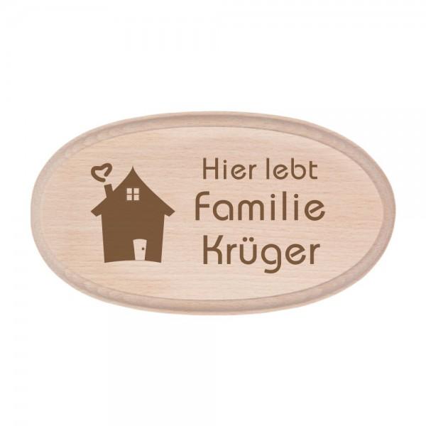 Türschild mit Deinem Familiennamen - Haus