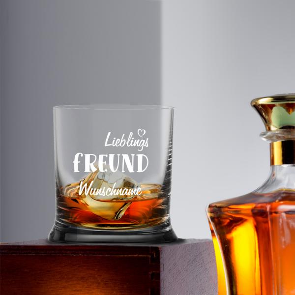 """Personalisiertes Whisky-Glas """"Lieblings-Freund"""" mit Namen"""
