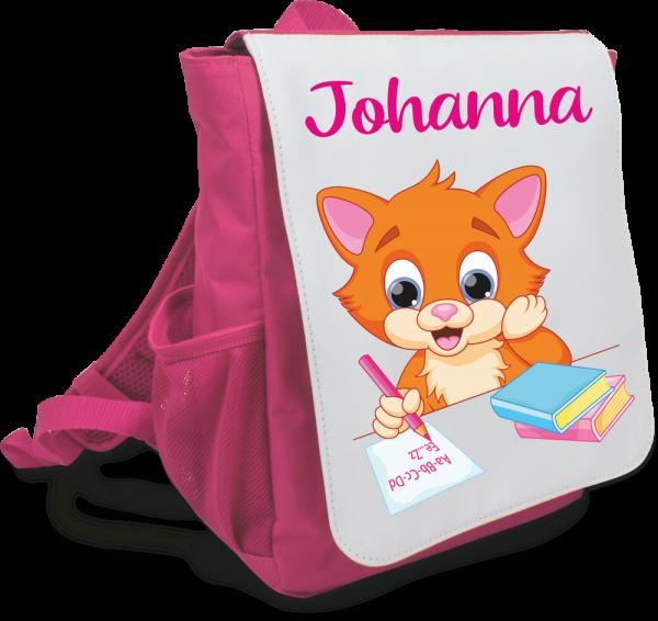 Mädchen-Rucksack Katze mit Deinem Wunschnamen