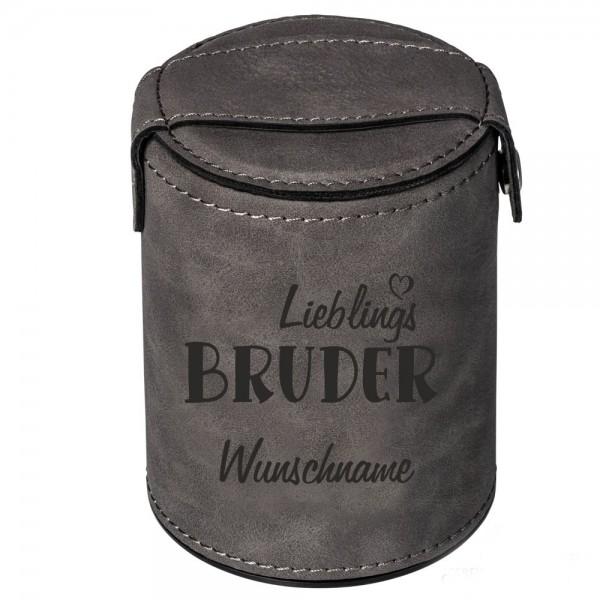 Würfelbecher mit Namen Lieblings-Bruder