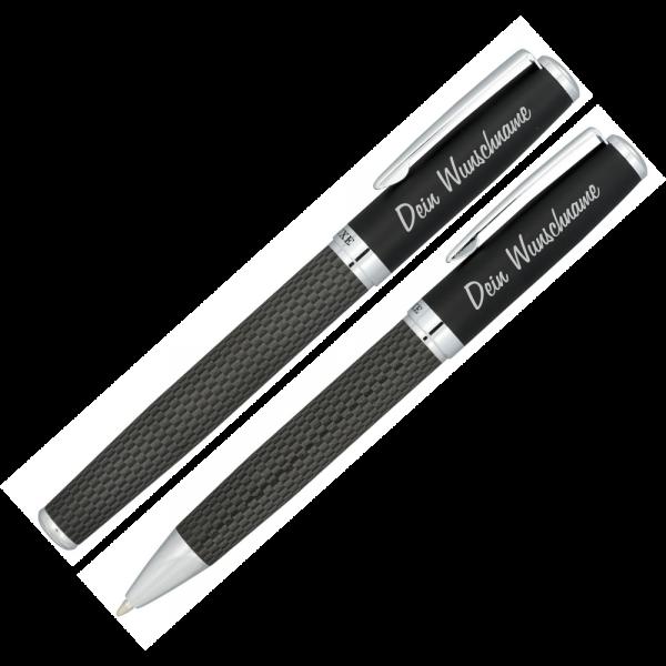 Schreibset Carbon Duo mit Gravur