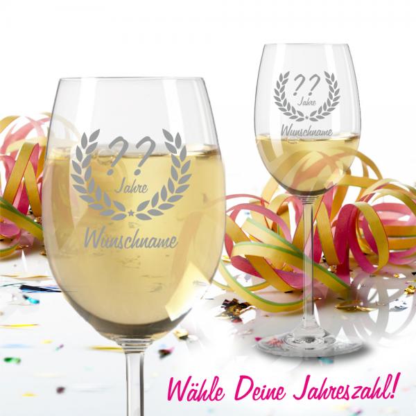 Weißweinglas zum Geburtstag - Dein Wunschjahr