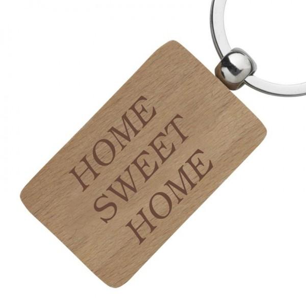 Holz-Schlüsselanhänger mit Gravur-Wunschtext