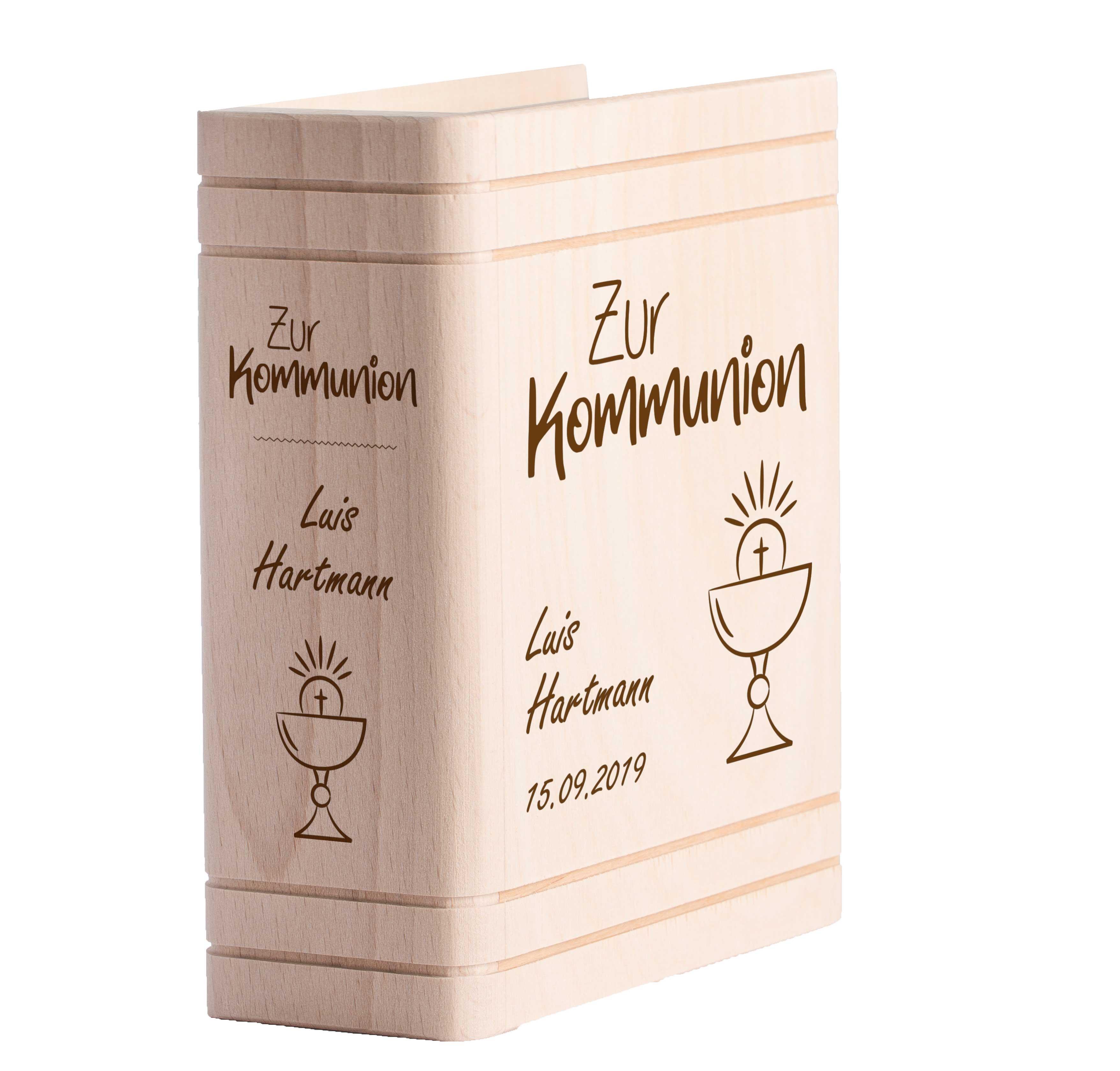 Personalisiertes Sparbuch Mit Gravur Zur Kommunion Kelch