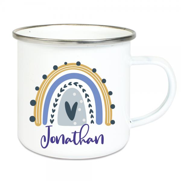 personalisierte Tasse für Kinder- Regenbogen