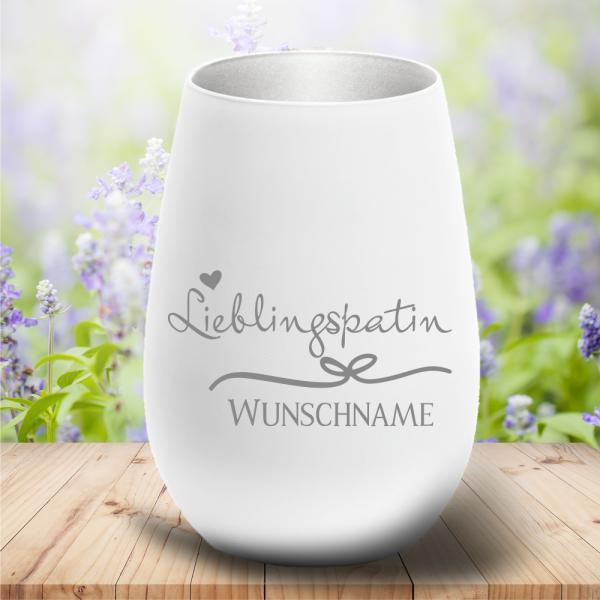 Windlicht Lieblingspatin mit Deinem Wunschnamen