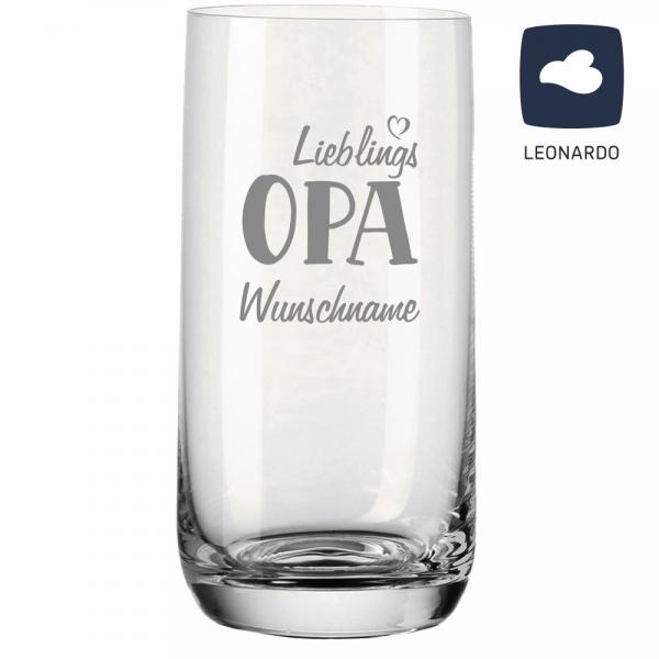 Trinkglas Lieblings-Opa mit Deinem Wunschnamen