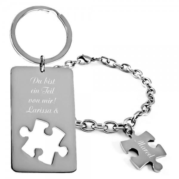 Trendgravur Geschenk-Set Puzzle 2-tlg