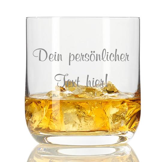 personalisiertes Whisky-Glas mit Deinem Wunschtext