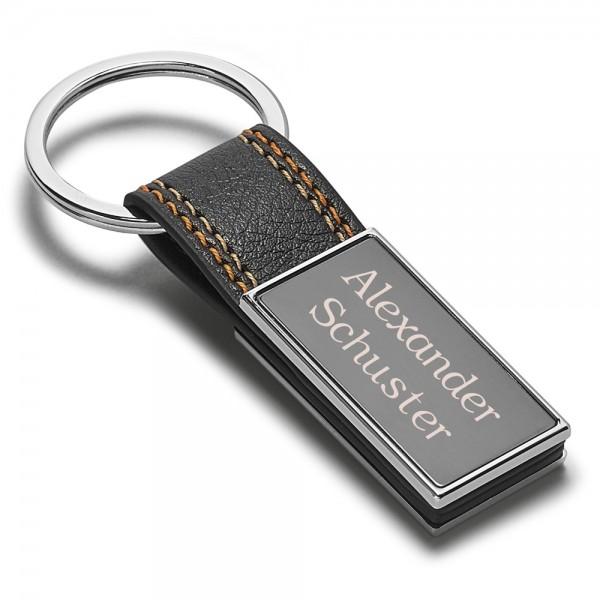 Schlüsselanhänger mit Gravur Ziernähte