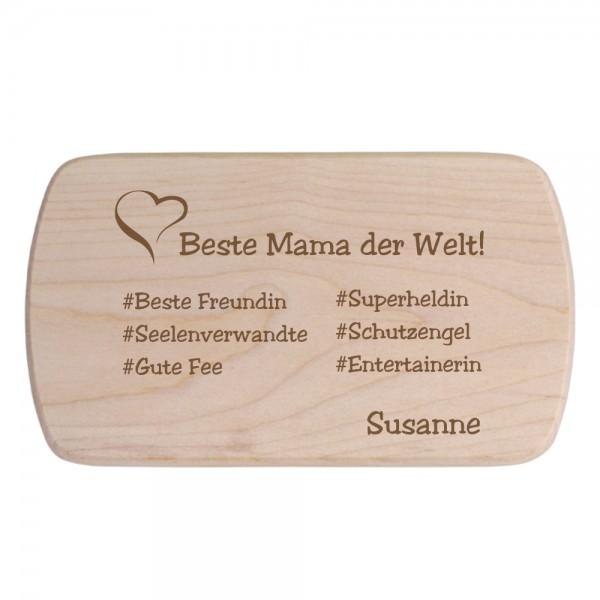 Brotbrett mit Deiner Wunschgravur #Mama