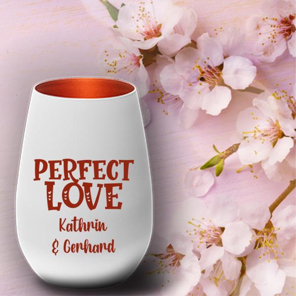 Windlicht mit Namen zum Valentinstag - Perfekt Love