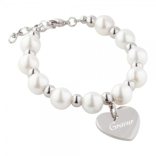 Perlen-Armband mit Gravur AG-B041